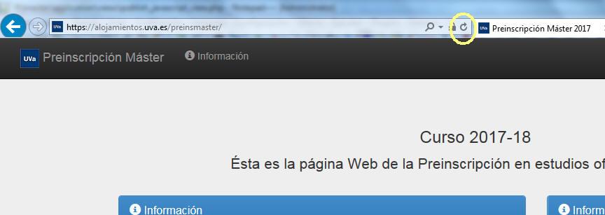 """Haz click en el botón """"Refrescar"""" del navegador para recargar la página."""